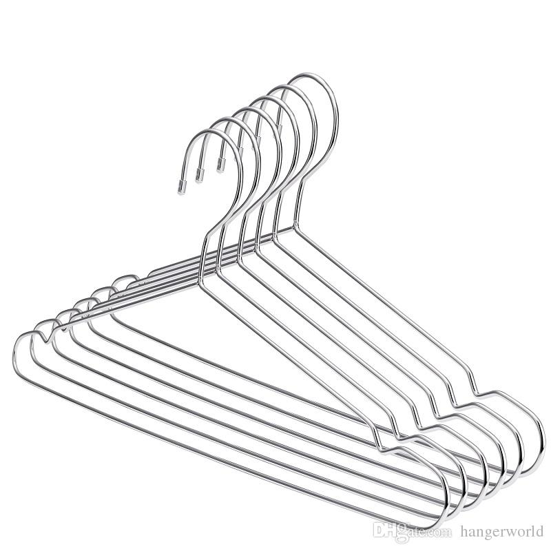 2019 45cm Stainless Steel Strong Metal Wire Hangers