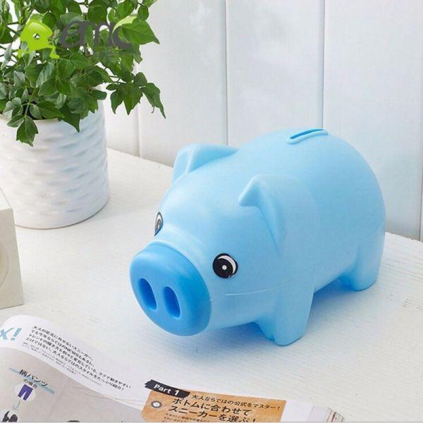 2019 Portable Cute Plastic Piggy Bank Saving Cash Coin