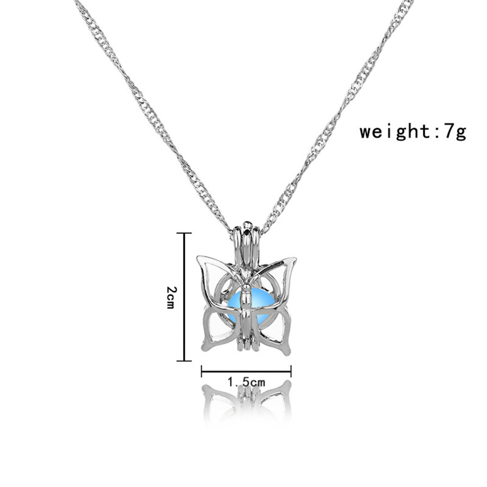 Wholesale Cutest Butterfly Necklace Glow In The Dark