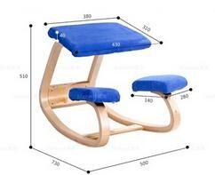 ergonomic chair design dimensions high cover pad 2019 original kneeling stool home office furniture rocking wooden computer posture