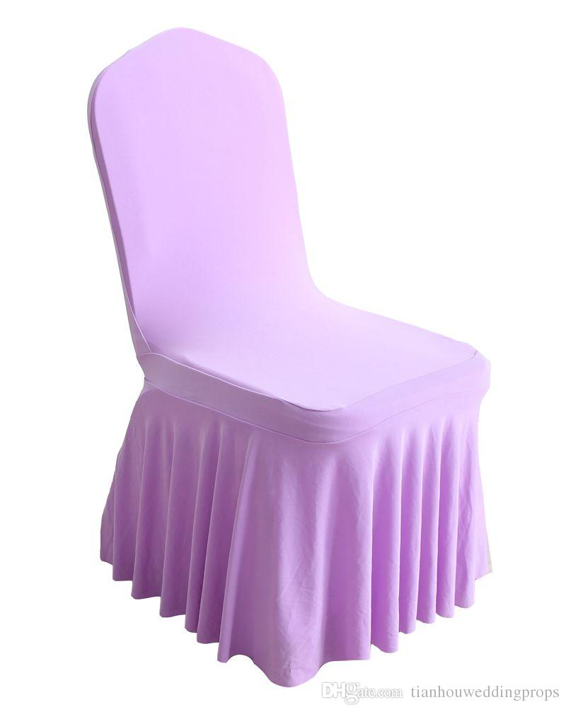 cheap chair cover decorations tufted chairs for sale 2018 good looking bottom ruffled lycra spandex wedding covers ...