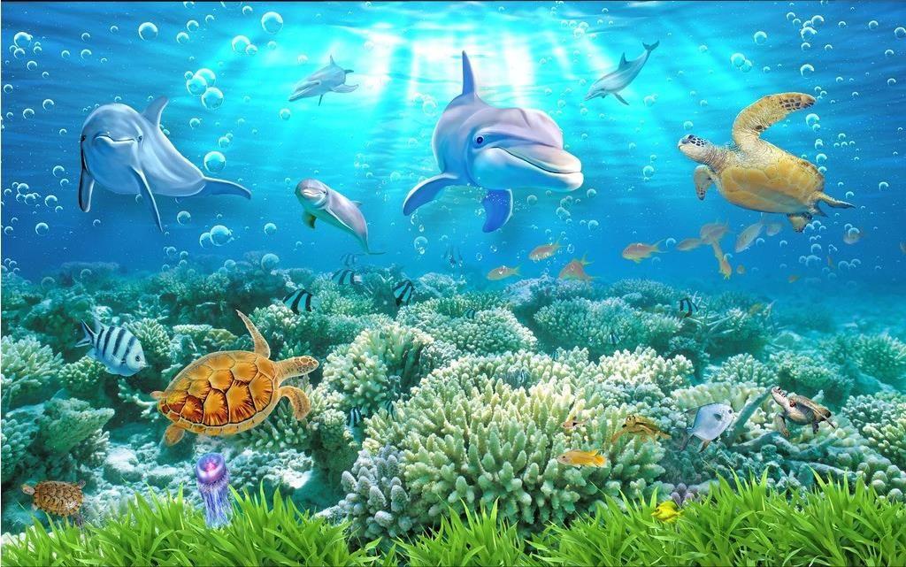3d Stereoscopic Mural Wallpaper Hd Underwater World 3d Backdrop Wall Mural 3d Wallpaper 3d