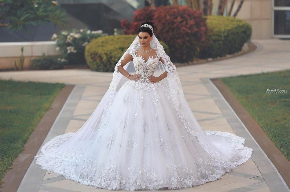 Discount 2017 Luxury Princess Ball Gown Wedding Dresses