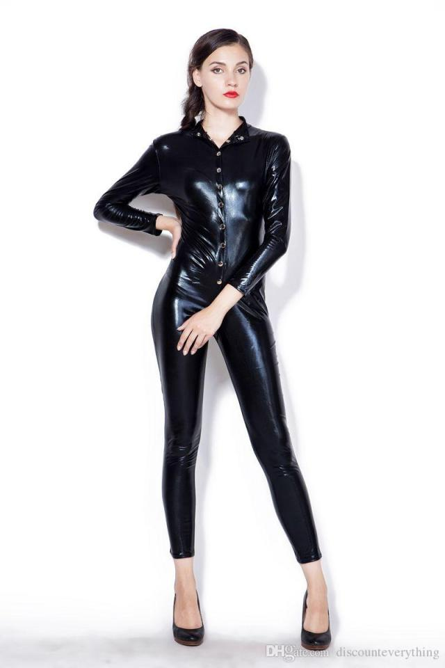 2019 New Latex Pole Dance Clothes Women Sexy Rubber ...