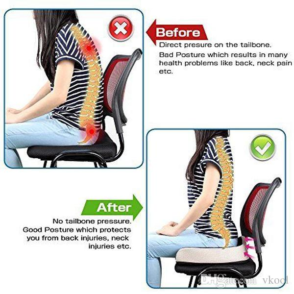 posture support seat cushion chair for baby room comfort memory foam coccyx orthopedic office car back tailbone sciatica