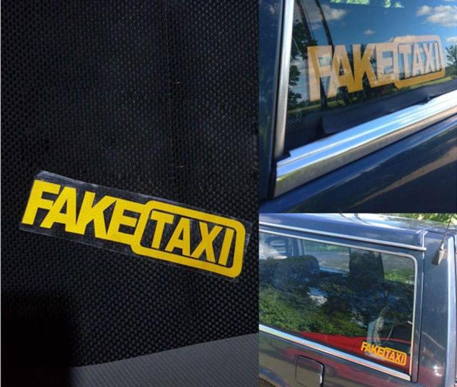 Universal Car Sticker Fake Taxi Jdm Drift Turbo Hoon Race Auto Funny Vinyl Decal 20x5cm Car