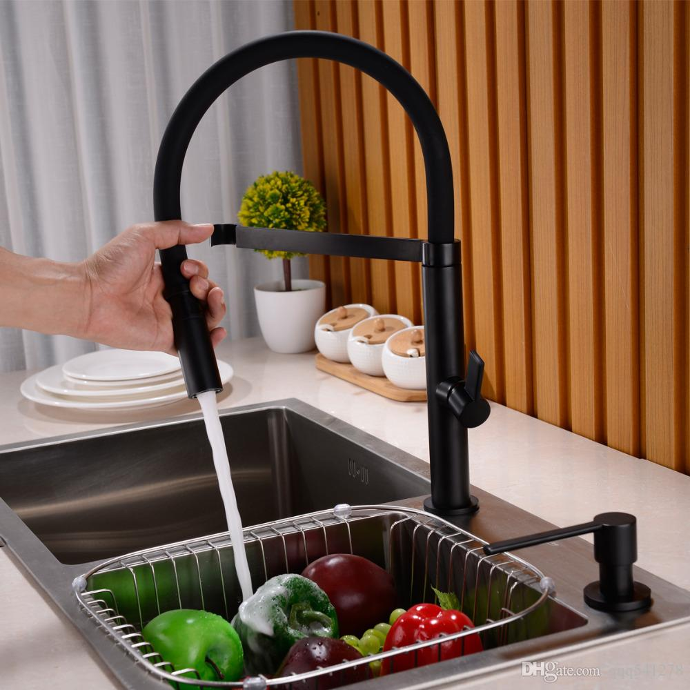 brass kitchen sink the orleans island solid faucet pull out down mixer tap 360 swivel spout hot and cold