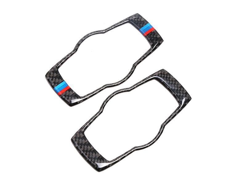 For Bmw E90 E92 Carbon Fiber Car Headlamp Switch Trim