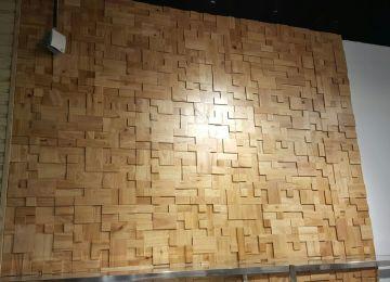 Piastrelle Mosaico Legno   Waldkante Rivestimento Parete Scultura ...