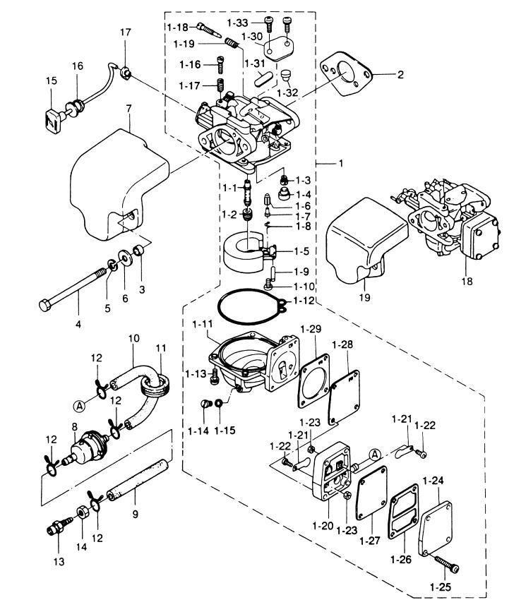 2019 Boat Motor 369 02011 0 36902 0110M Carburetor Gasket