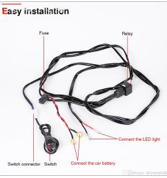 offroad led work light bar wiring harness relay cable switch kit for 300w 240w 200w 180w  [ 950 x 950 Pixel ]