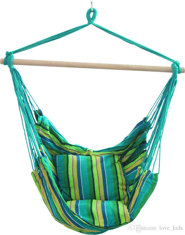 hanging hammock chair swivel homesense rope porch swing set with two cushions