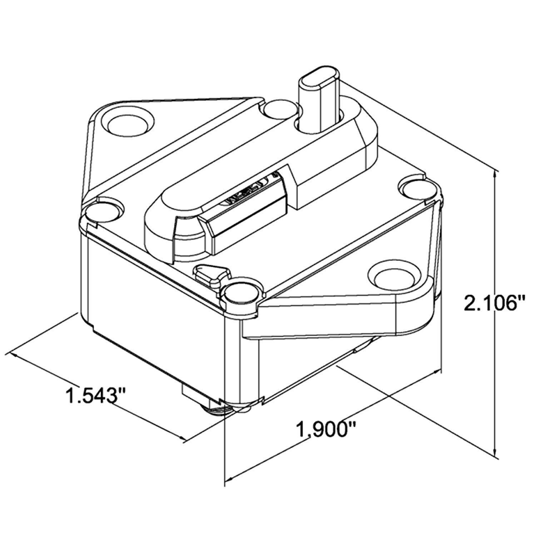 ZOOKOTO 150A Waterproof Circuit Breaker Fuse Inverter with