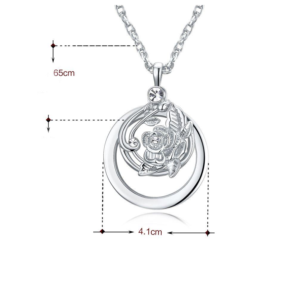 Wholesale Flower Design Magnifying Glass Necklace Parts