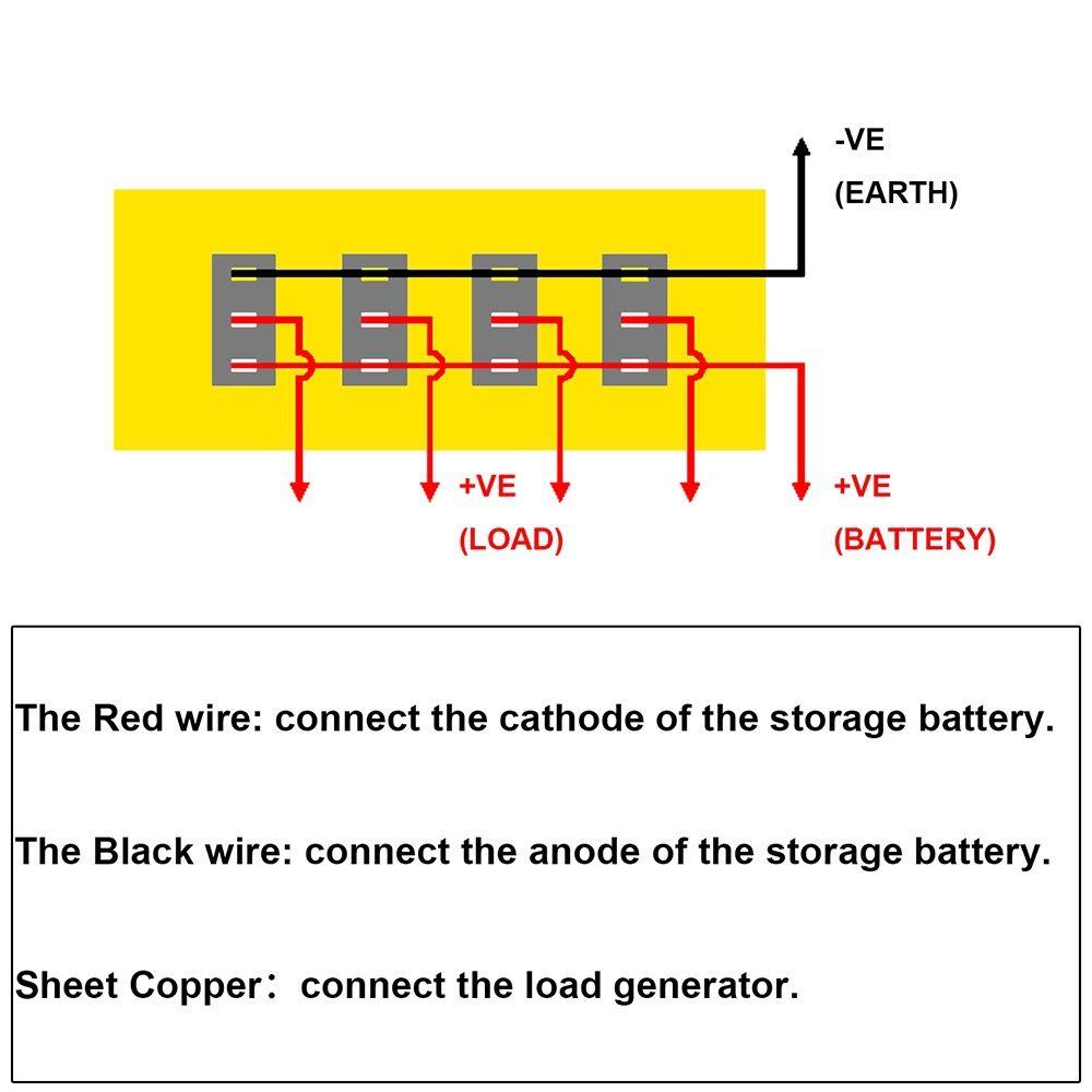 hight resolution of  4 gang led rocker switch panel fuses circuit breaker for 12v car rv marine boat b00645