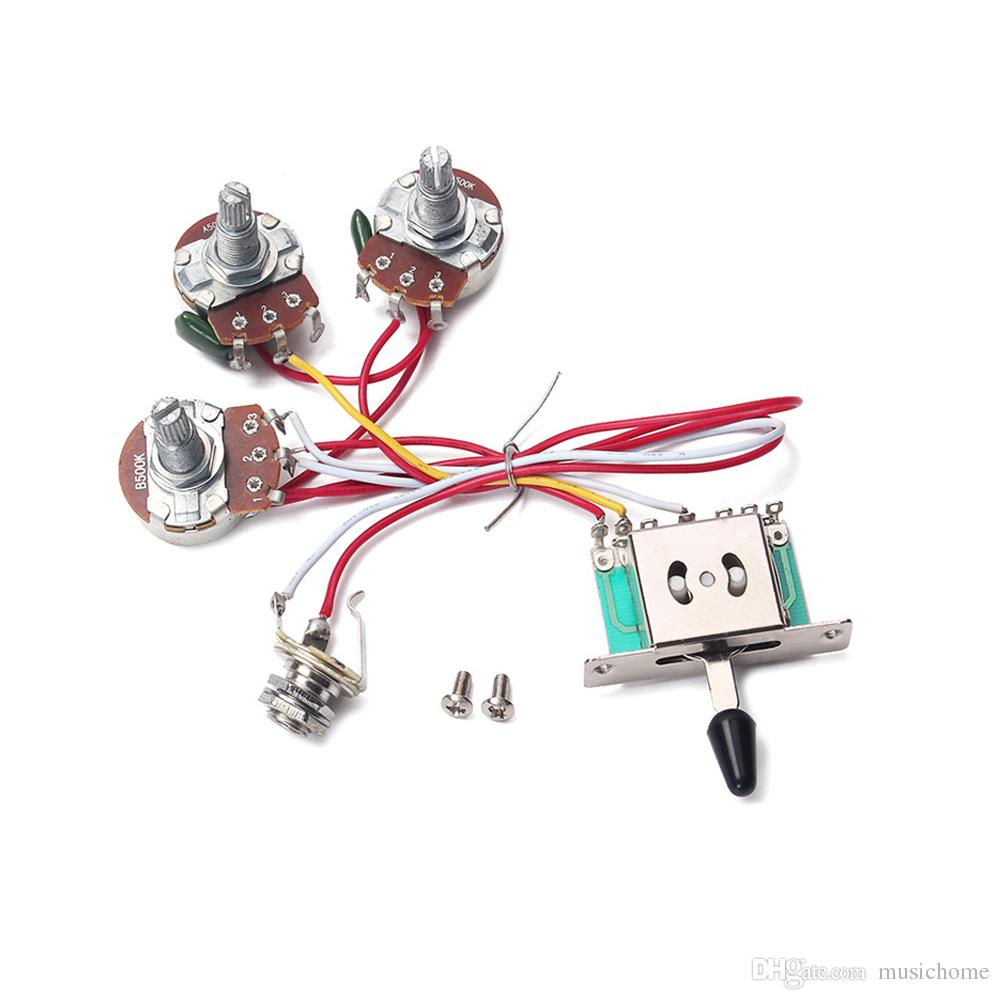 hight resolution of  electric guitar wiring harness 5 way toggle switch 2 tone for electric guitar