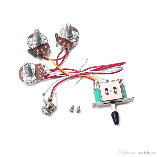 small resolution of  electric guitar wiring harness 5 way toggle switch 2 tone for electric guitar