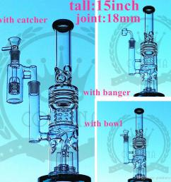 factory color glass bong beaker hitman water pipe zob ice catcher arms tree perc dab oil [ 1200 x 1200 Pixel ]