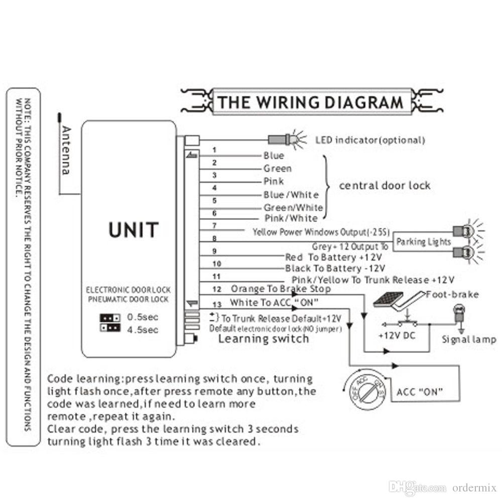 hight resolution of universal central keyless entry wiring diagram wiring diagramremote control door lock wiring diagram for car wiring