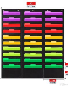 Wall file pocket folder organizer with plus hangers hooks the perfect also rh dhgate