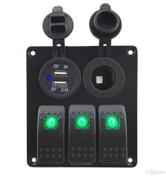 zookoto 3 gang rocker switch panel with power socket 3 1a dual usb wiring kits and  [ 1114 x 1023 Pixel ]