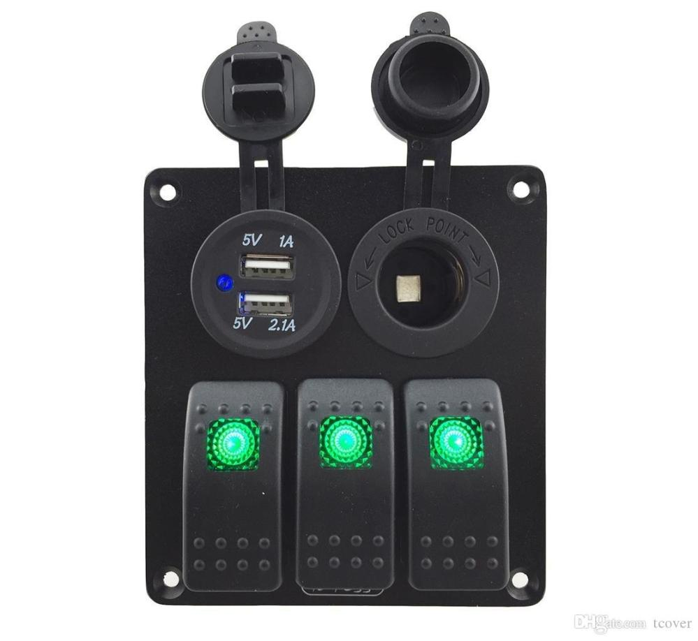 medium resolution of  zookoto 3 gang rocker switch panel with power socket 3 1a dual usb wiring kits and