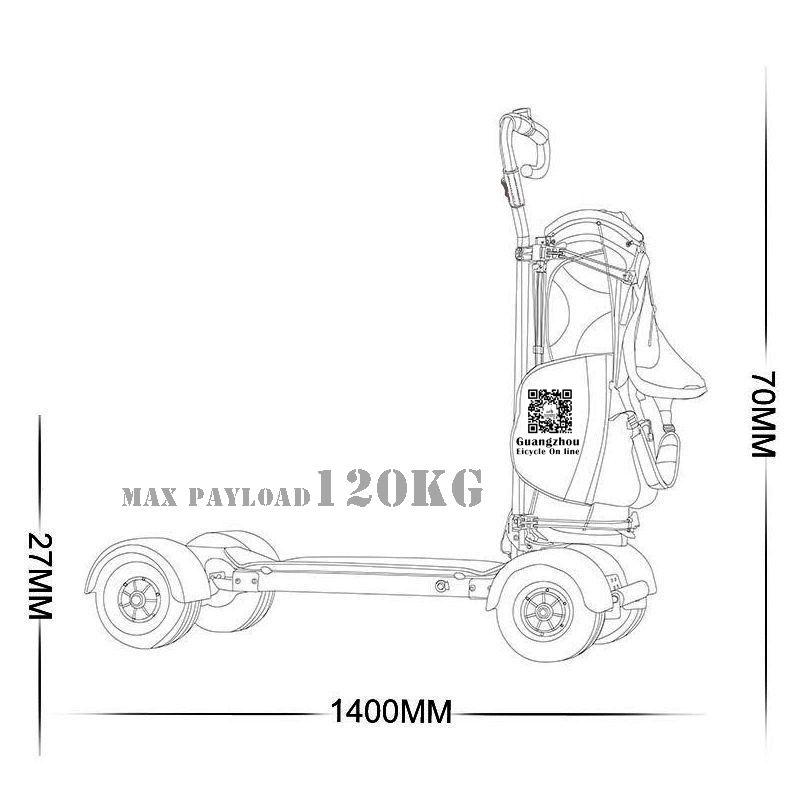 Adult Electric Scooter 4 Wheel Golf Cart Self Balancing