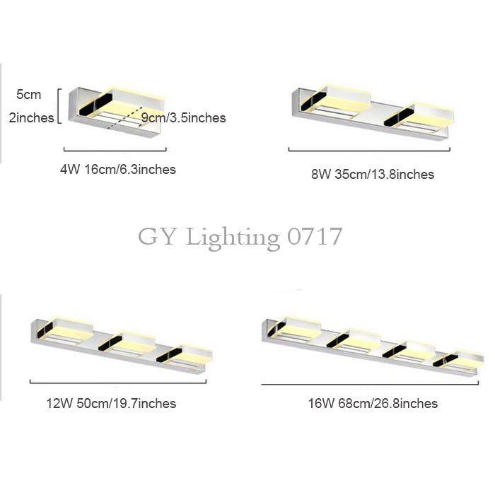 2020 2017 New L16cm 35cm 50cm 68cm Longer LED Mirror Light