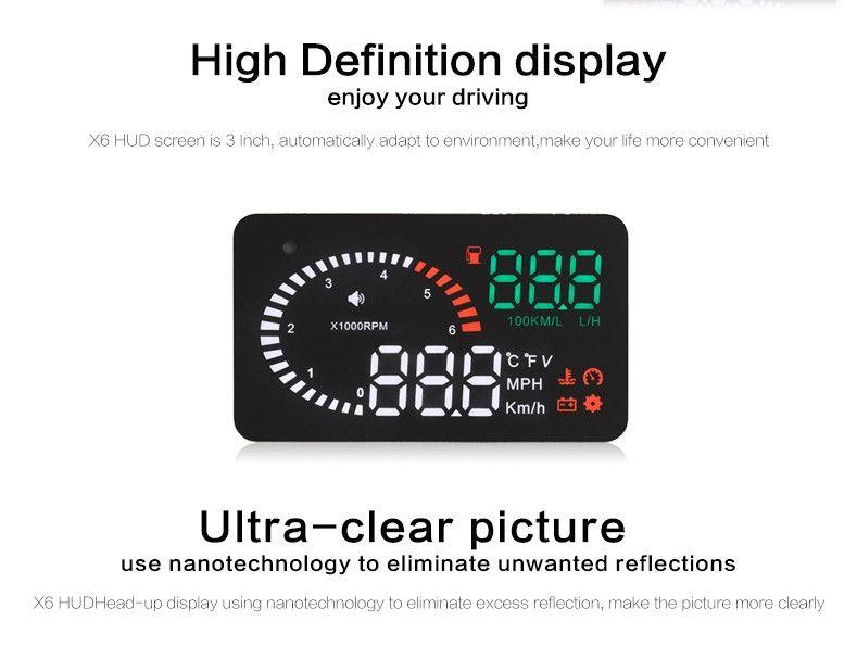 2020 Car Overspeed Alarm Speedometer HUD 3.5 Inches Head