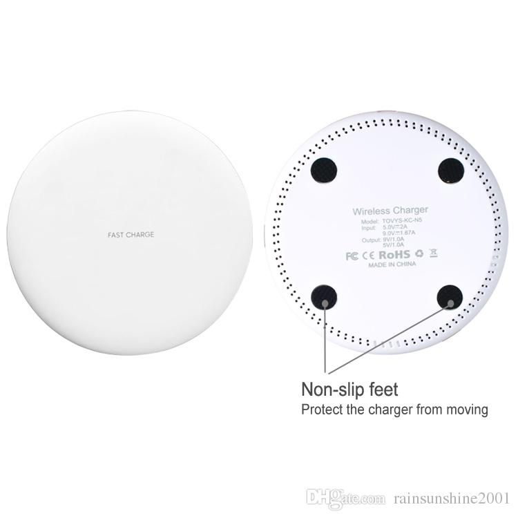 Fast Qi Charge Pad Quick Wireless Charger 9V 1.67A 5V 2A