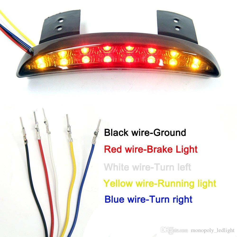 medium resolution of  motorcycle led brake tail stop running light with turn signal lamp for harley davidson red lens
