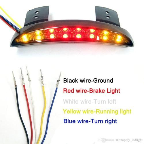 small resolution of  motorcycle led brake tail stop running light with turn signal lamp for harley davidson red lens