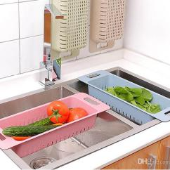 Kitchen Drainer Basket Chair Cushions With Ties 2019 Sink Dish Home Vegetable Fruit Washing Racks Wheat Straw Bowl Plate Draining