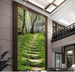 staircase brick entrance natural 3d fantasy purple minimalistic forest dhgate