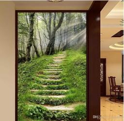 staircase entrance brick natural 3d minimalistic forest fantasy purple dhgate