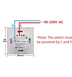 sonoff t1 smart switch panel eu 1 2 gang wireless wall smart touch on  [ 1020 x 1020 Pixel ]