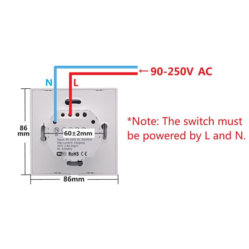 hight resolution of sonoff t1 smart switch panel eu 1 2 gang wireless wall smart touch on