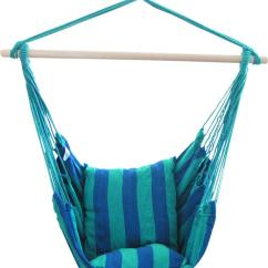 Hanging Chair Rope Swing Urban Ladder Hammock Porch Set With Two Cushions