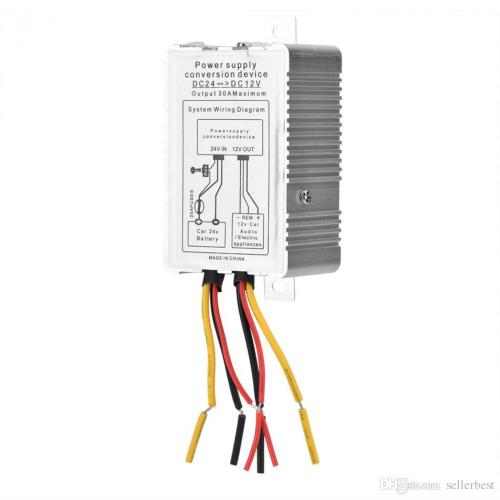 small resolution of  vbestlife compact power supply converter dc 24v to dc 12v step down 5a 60w power converter
