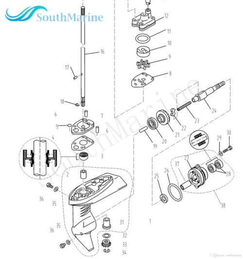small resolution of outboard engine f2 6 03000202 clutch block for parsun hdx 4 stroke f2