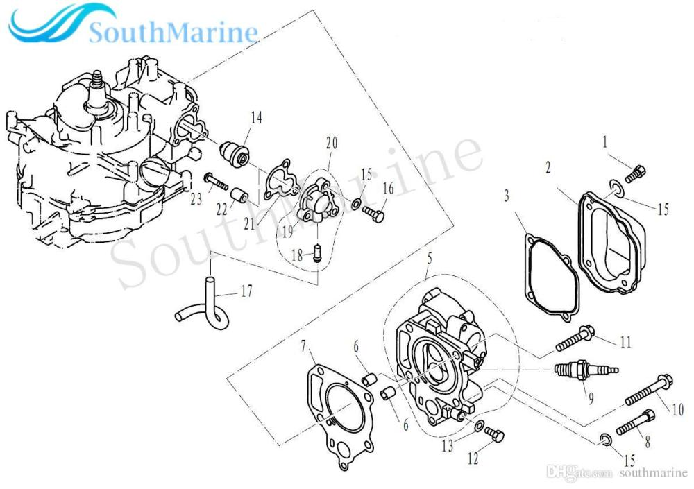 medium resolution of boat motor f4 04000011 thermostat cover gasket for parsun hdx 4 stroke f2