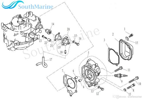 small resolution of boat motor f4 04000011 thermostat cover gasket for parsun hdx 4 stroke f2
