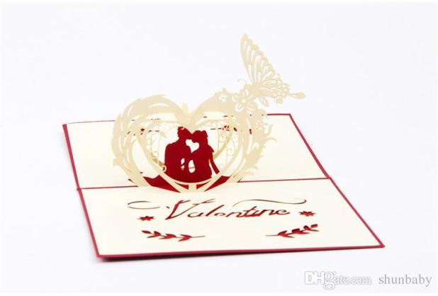 valentine s day gift card pop up happy couples greeting - Valentine039s Day Greeting Cards