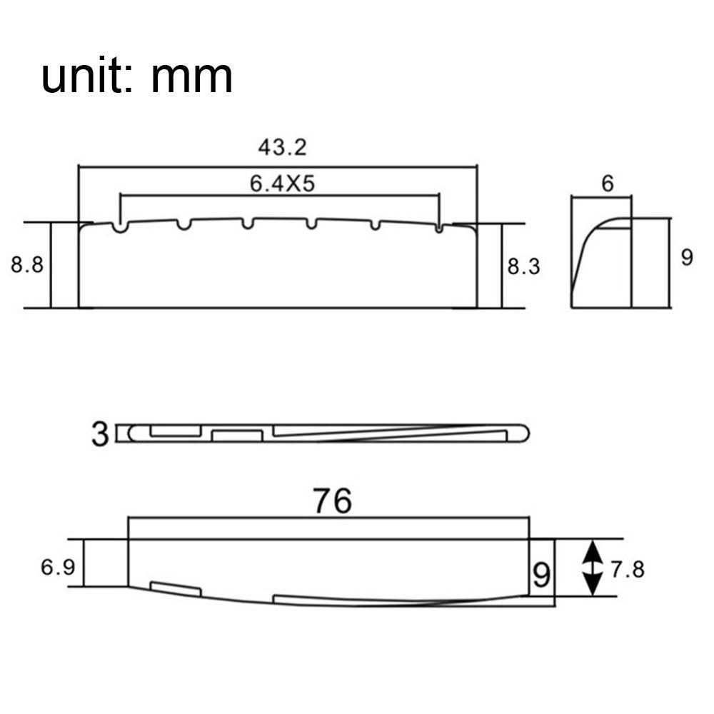 hight resolution of 2019 6 sting acoustic guitar brass bridge pins 72mm saddle nut guitar neck adjustment diagram guitar saddle diagram