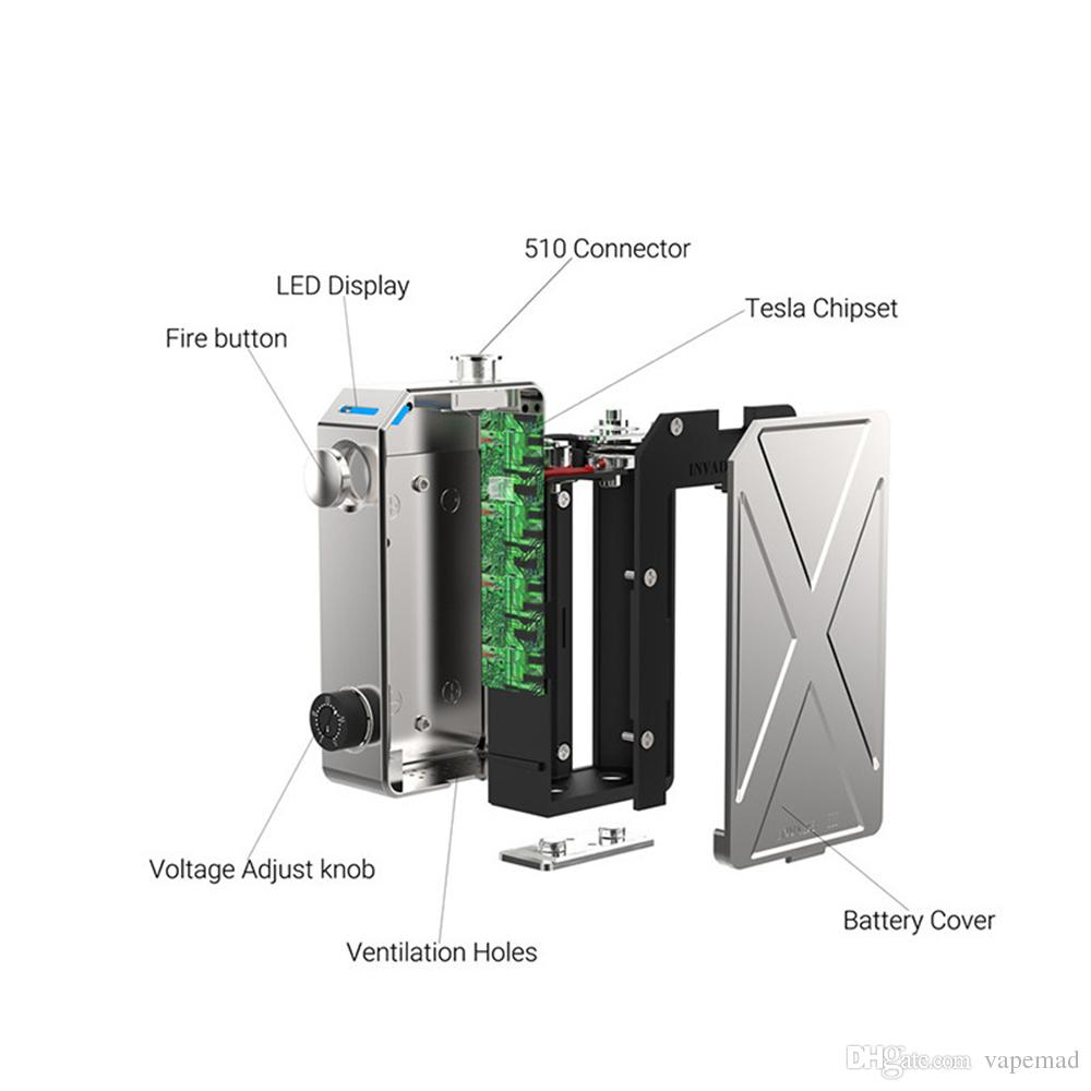 hight resolution of tesla invader iii 240w box mod 100 original invader 3 electronic cigarette