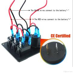 Boat Accessory Switch Panel Wiring Diagram Chicken Muscle Schematic Library Zookoto 3 Gang Rocker With Power Socket 31a Dual Usb Kits And Decal
