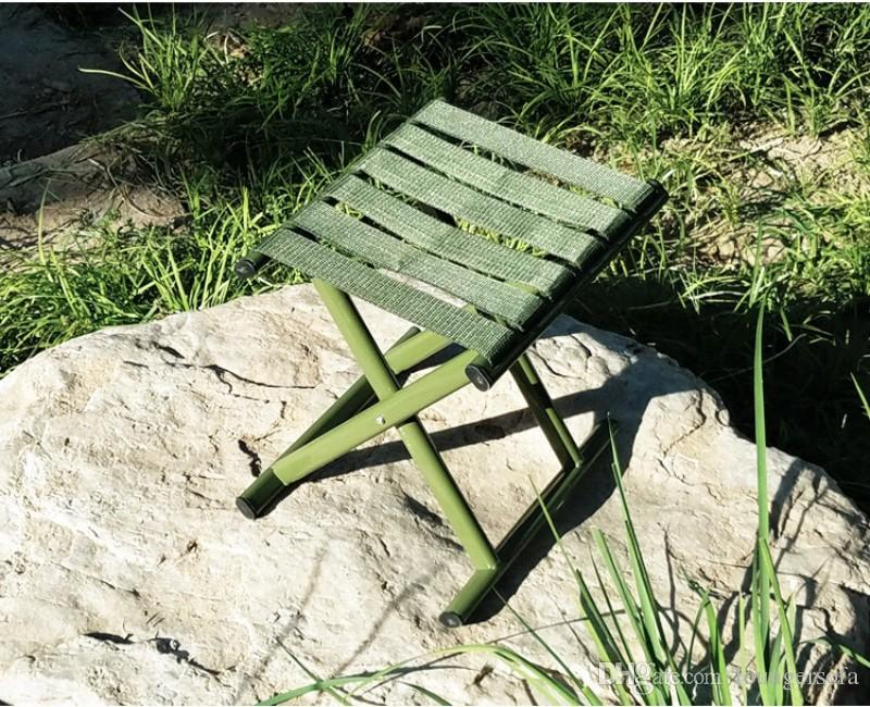 green fishing chair office modern military stool widen nylon belt high strength carbon steel tube folding chairs durable