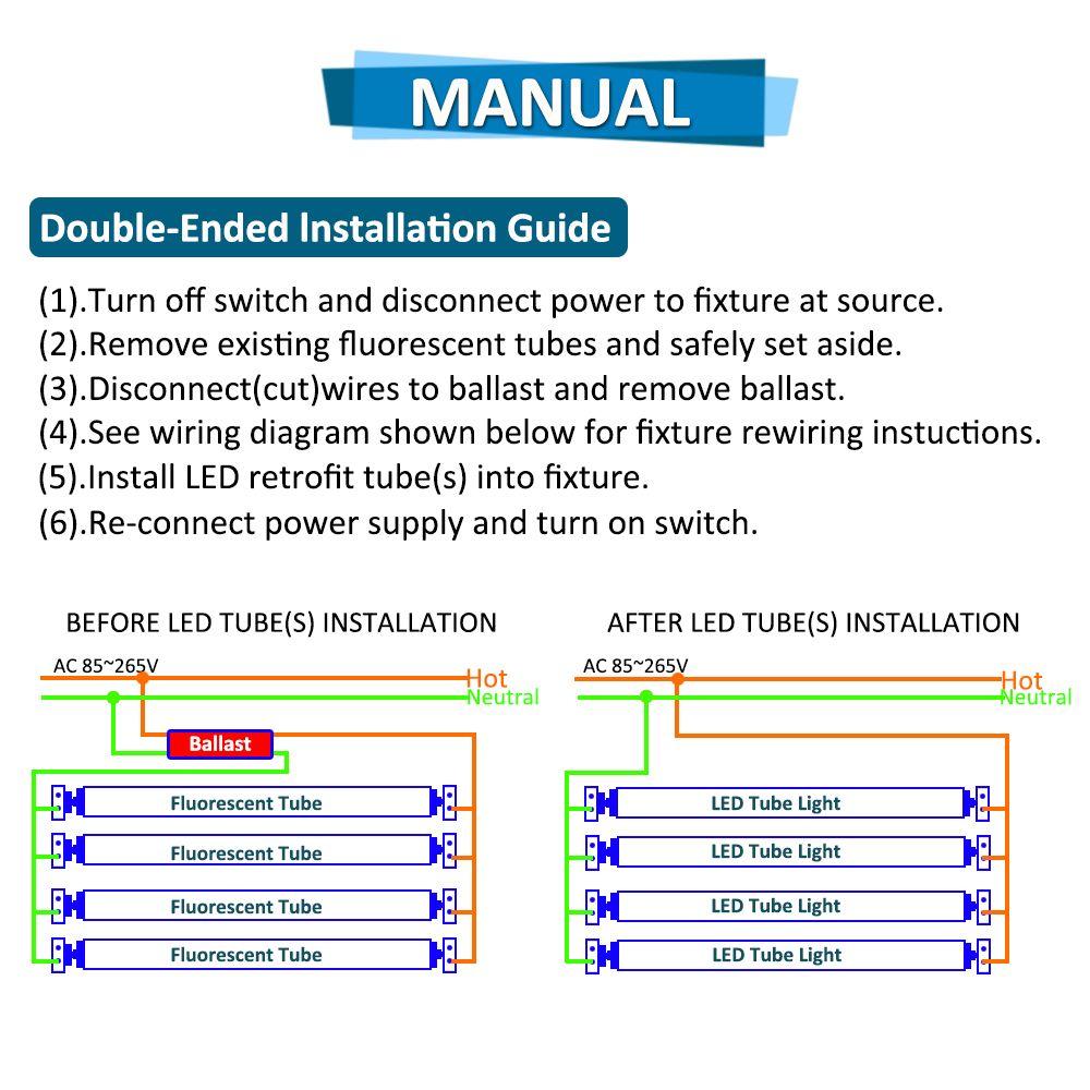 medium resolution of  stock in us 8 feet led 8ft single pin t8 fa8 single pin led tube