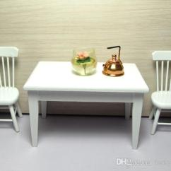 Kitchen Table Chairs Set Modern Light Fixture Wood Dining Chair Model 1 12 Scale Toy Dollhouse Miniature Home Dolls