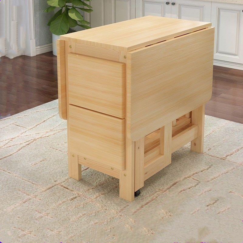 acheter table de salle a manger pliante en bois massif de haute qualite reglee multifonctionnelle de 162 81 du fineyoumall fr dhgate com